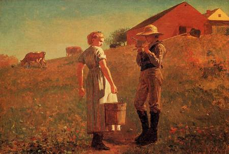 A Temperance Meeting (or Noon Time) - Winslow Homer