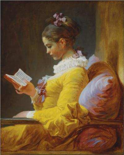 A Young Girl Reading - Jean Honore Fragonard