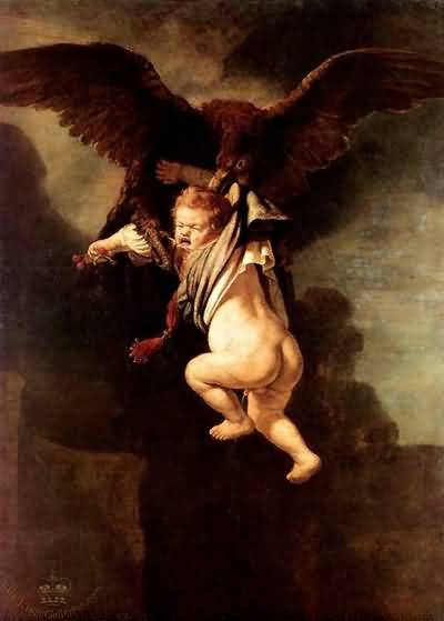 Abduction of Ganymede - Rembrandt van Rijn