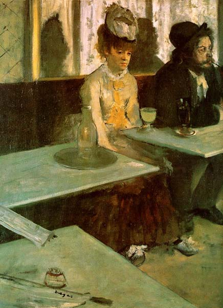 Absinthe Drinker in a Cafe - Edgar Degas