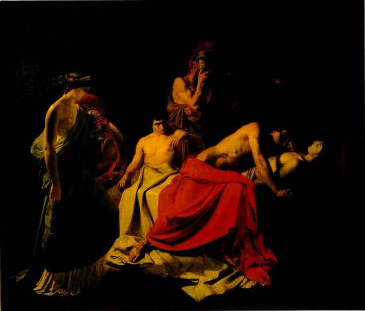 Achilles Lamenting the Death of Patroclus - Nikolay Gay