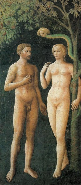 Adam and Eve in Eden - Masaccio