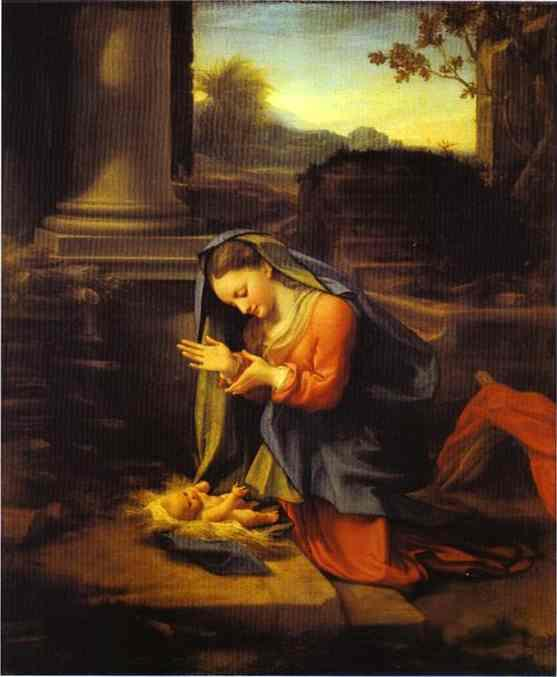Adoration of the Child - Correggio