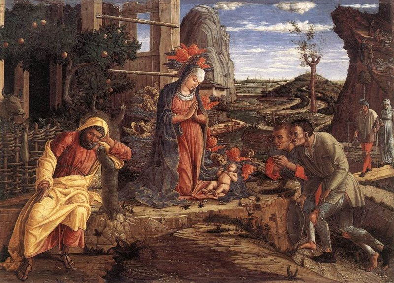 Adoration of the Shepherds - Andrea Mantegna