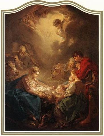 Adoration of the Shepherds - Francois Boucher