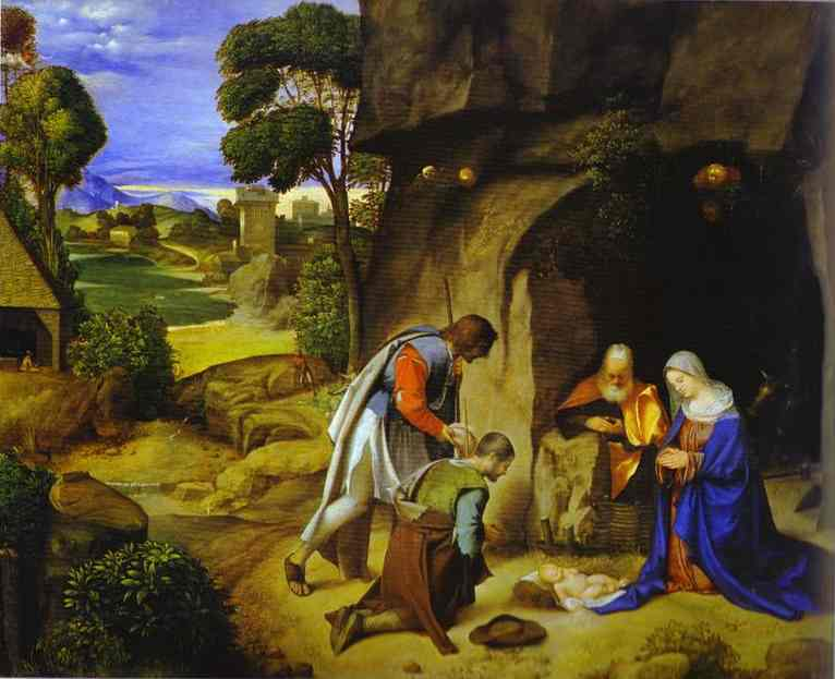 Adoration of the Shepherds - Giorgione Giorgio Barbarella