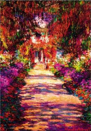 Alley of the Gardens at Giverny - Claude Monet