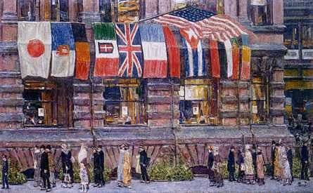 Allied Flags, April 1917 - Childe Hassam