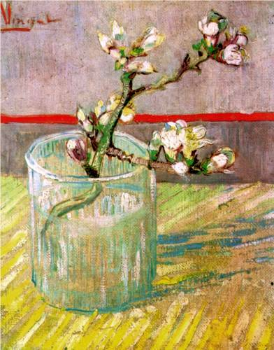 Almond Branch in Glass - Vincent Van Gogh
