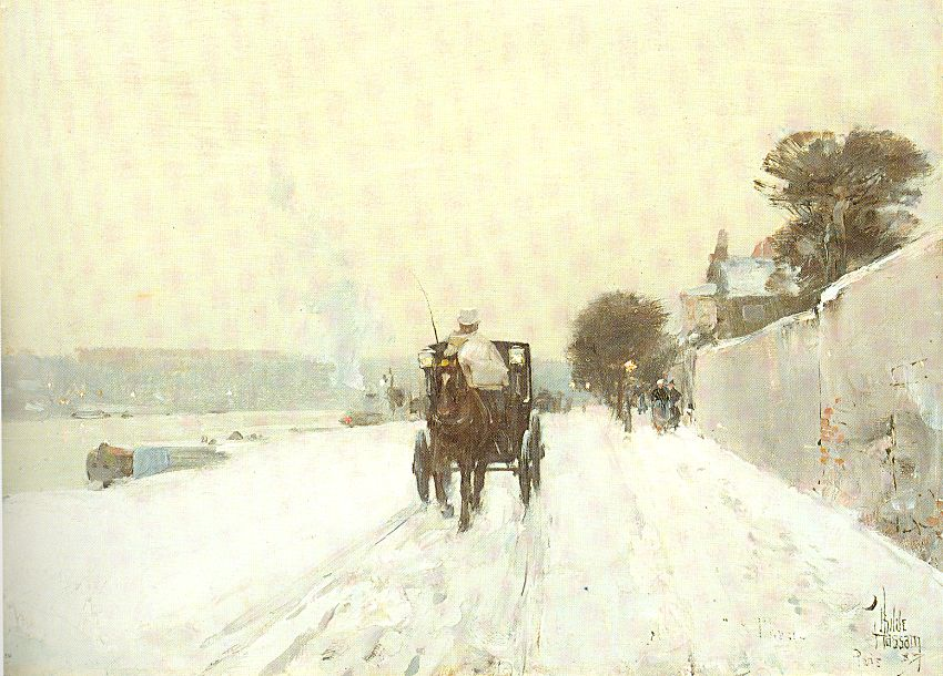Along the Seine, Winter - Childe Hassam