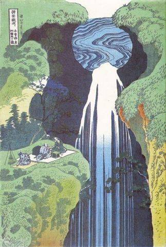 Amida Waterfall on the Kisokaido Road - Katsushika Hokusai