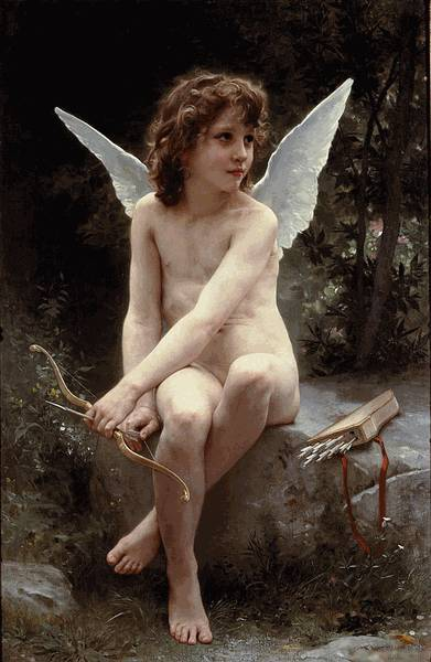Amour a Laffut (Love on the Look Out) - William Bouguereau