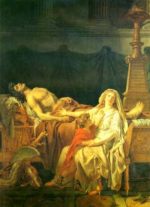 Andromache Morning Hector - Jacques Louis David