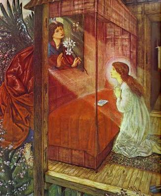 Annunciation (The Flower of God) - Edward Coley Burne Jones