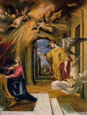 The Annunciation, El Greco, 1569