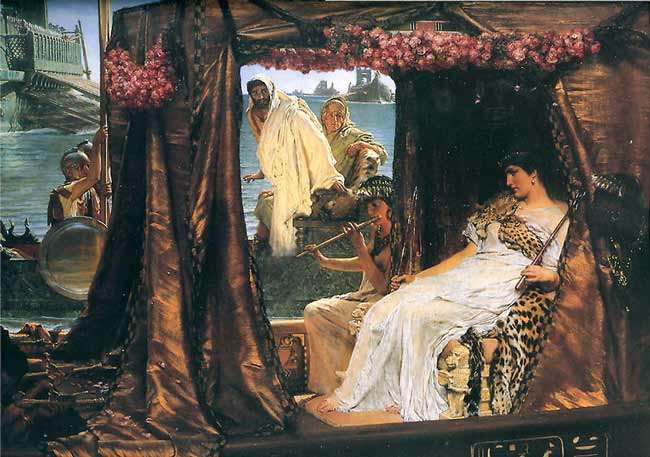 Anthony and Cleopatra - Lawrence Alma Tadema