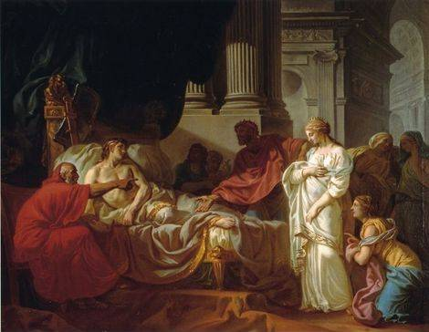 Antiochus & Stratonice - Jacques Louis David