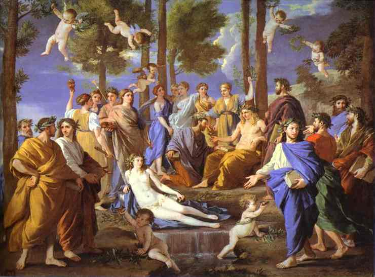 Apollo and Muses - Nicolas Poussin