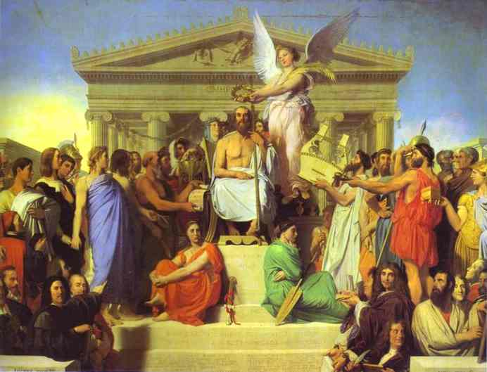 Apotheosis of Homer - Jean Auguste Dominique Ingres
