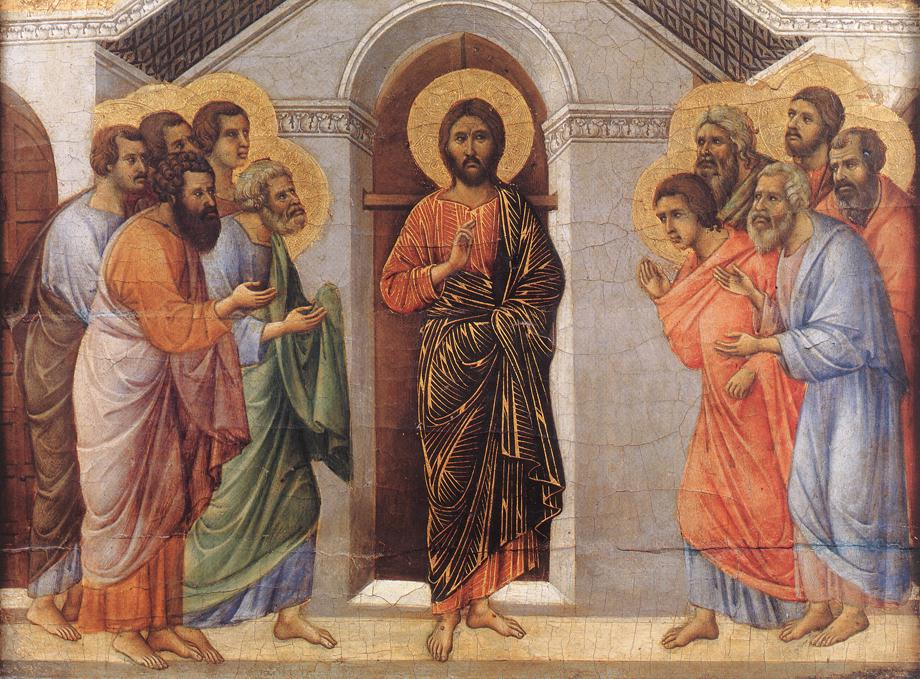 Appearance Behind Locked Doors - Duccio di Buoninsegna