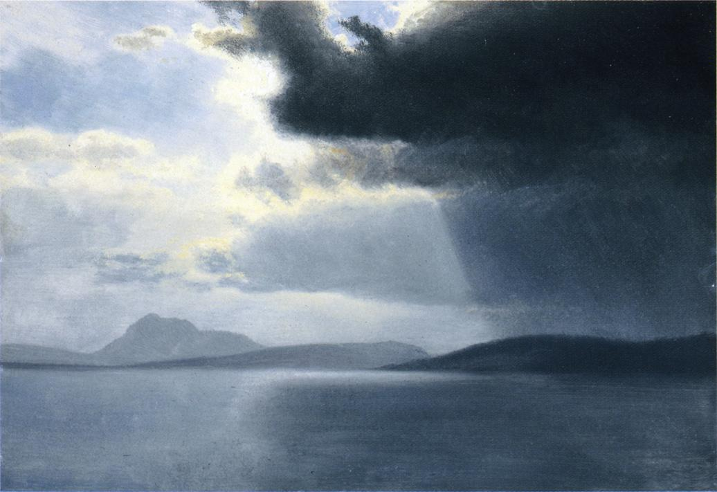 Approaching Thunderstorm on the Hudson River - Albert Bierstadt