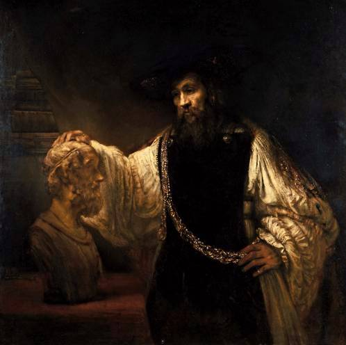 Aristotle Before the Bust of Homer - Rembrandt van Rijn