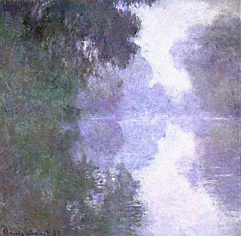 Arm of the Seine in the Fog - Claude Monet