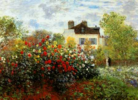 Artist Garden at Argenteuil - Claude Monet