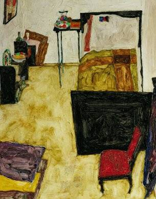 Artist's Room in Neulengbach - Egon Schiele