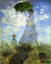 Camille Monet and Her Son Jean (Woman with a Parasol) 1875 Claude Monet
