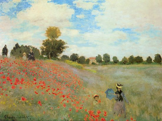 Poppies at Argenteuil 1873 Claude Monet