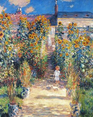 Artists Garden in Ventheuil - Claude Monet