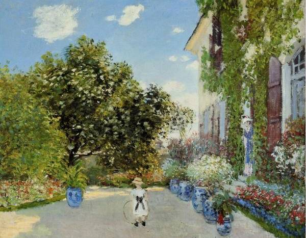 Artist's House at Argenteuil - Claude Monet