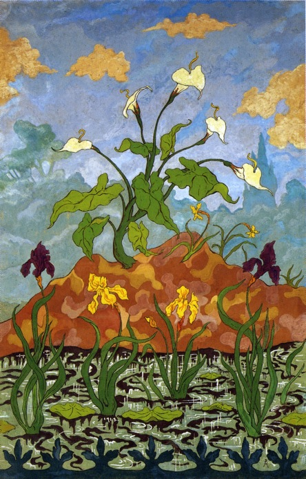 Arums, Purple and Yellow Irises - Paul Ranson