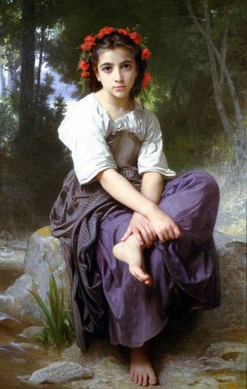 At the Edge of the River - William Adolphe Bouguereau