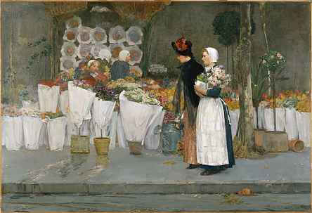 At the Florist - Childe Hassam