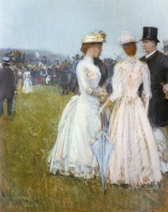 At the Grand Prix in Paris - Childe Hassam