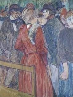 At the Moulin de la Galette II - Henri de Toulouse Lautrec