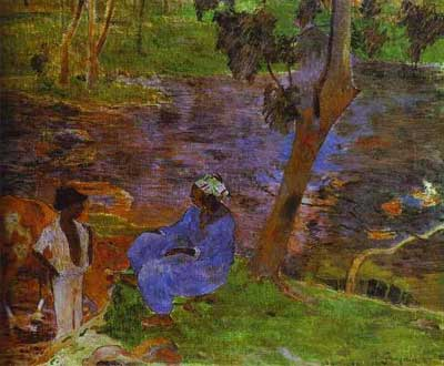 At the Pond - Paul Gauguin