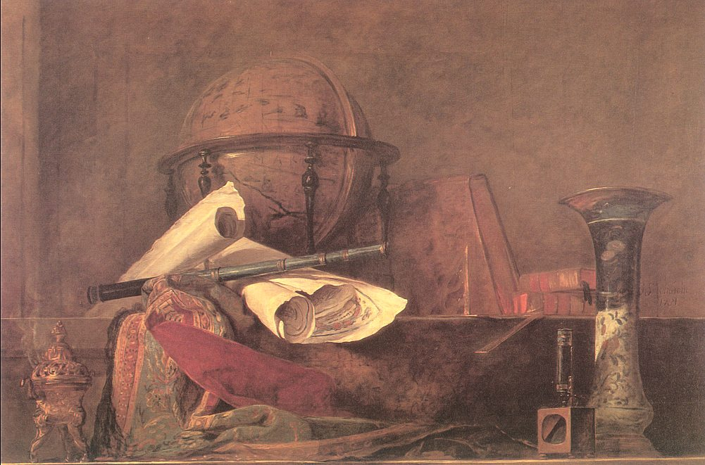 Attributes of Science - Jean Baptiste Simeon Chardin