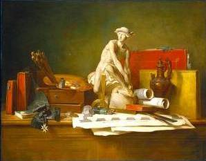 Attributes of the Arts - Jean Baptiste Simeon Chardin