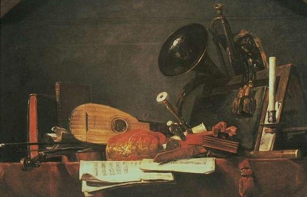 Attributes of the Music - Jean Baptiste Simeon Chardin