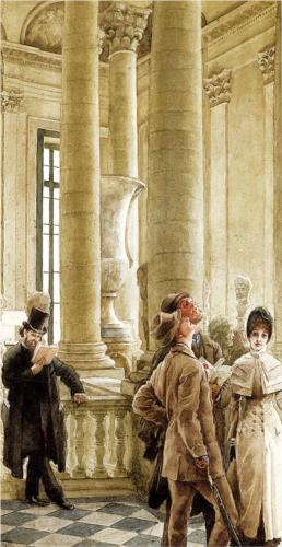 Au Louvre - James Tissot