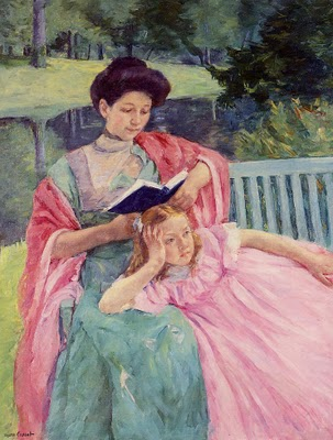 Auguste Reading to Her Daughter - Mary Cassatt