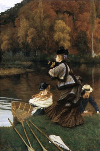 Autumn on the Thames - James Tissot