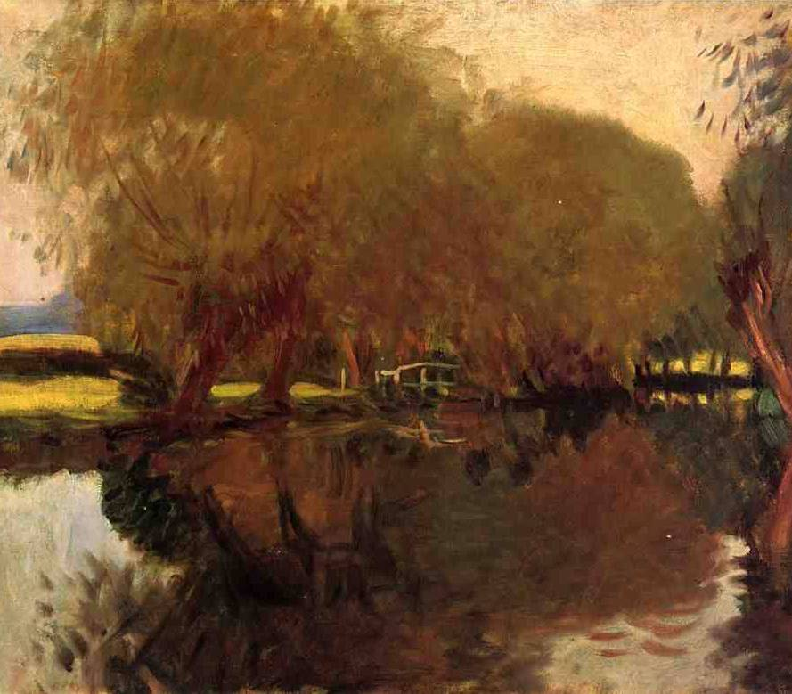 Backwater at Calcot Near Reading - John Singer Sargent