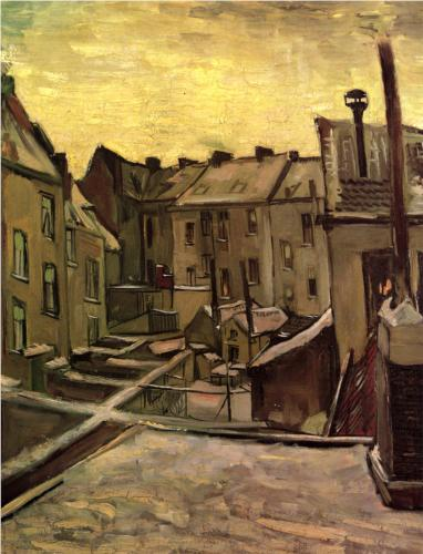 Backyards of Old Houses in Antwerp - Vincent Van Gogh