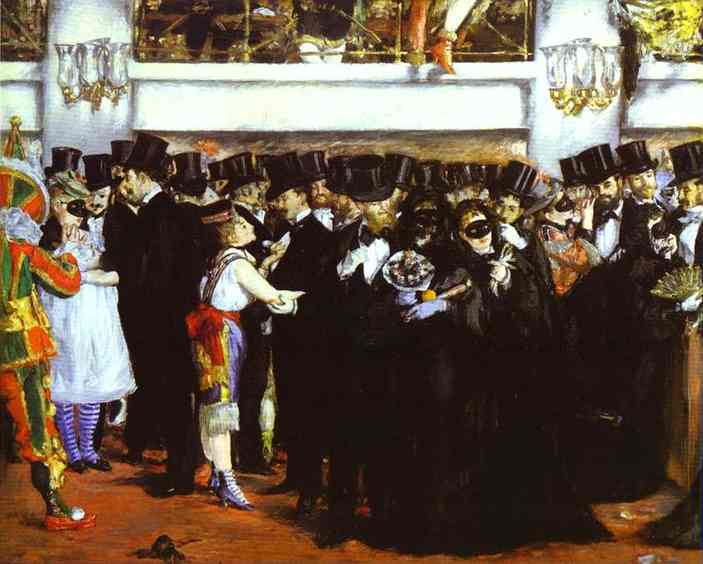 Ball at the Opera - Edouard Manet