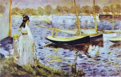 Banks of the Seine at Argenteuil - Edouard Manet