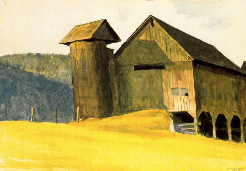 Barn and Silo - Edward Hopper